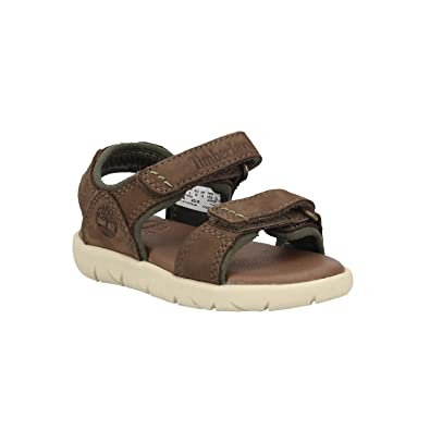 29c007b91c8 Timberland Nubble Leather 2 Strap, Sandales Bride Cheville Mixte Enfant,  Marron (Canteen 901