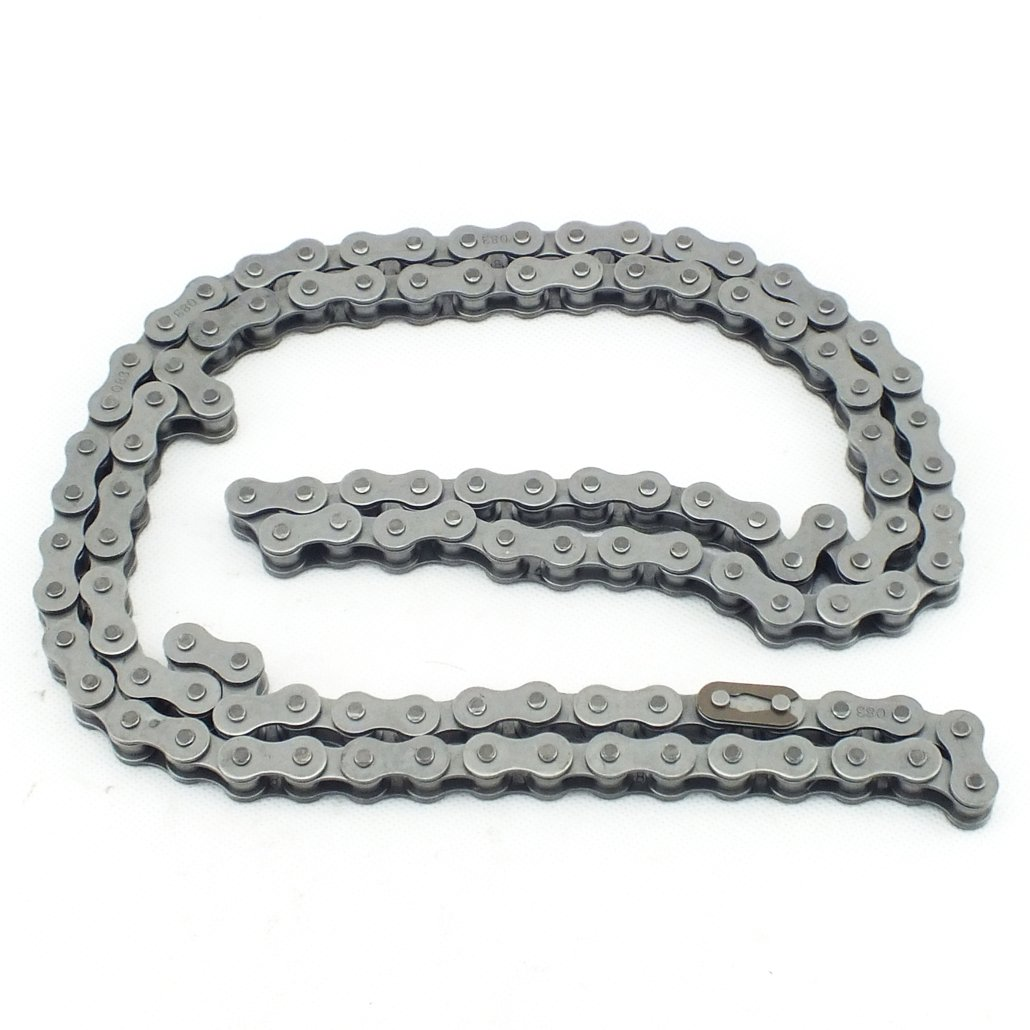 QAZAKY Heavy Duty 415H-110L Chain for 49cc 50cc 60cc 66cc 70cc 80cc 2-Stroke 4-stroke Engine Motor Motorized Bicycle Pit Dirt Mini Bike Scooter ATV Minibike Chopper 415H 110L 415