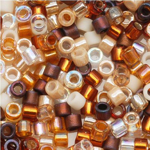 Miyuki Delica Seed Beads Mix 11/0 Honey Butter Tan Brown 8 Grams - Delica Bead Loom