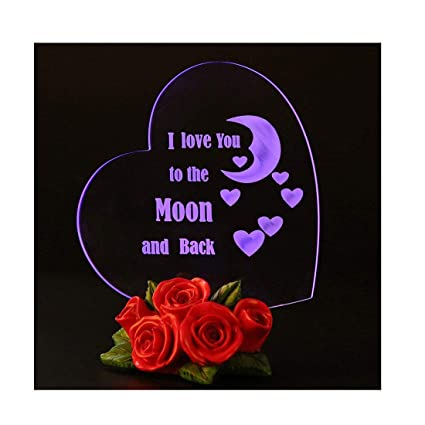 Amazoncom Giftgarden Mom I Love You To The Moon And Back Heart