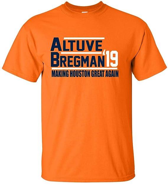 best service bb6e6 e8f70 Shedd Shirts Orange Houston Altuve Bregman 2019 T-Shirt at ...