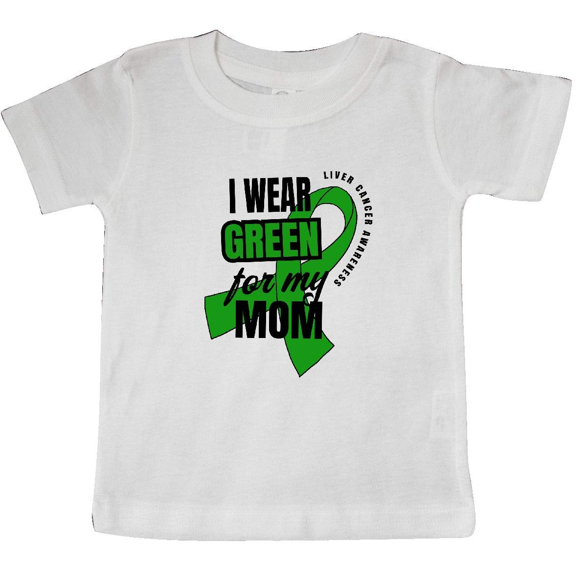 inktastic I Wear Green for My Mom Liver Cancer Awareness Baby T-Shirt