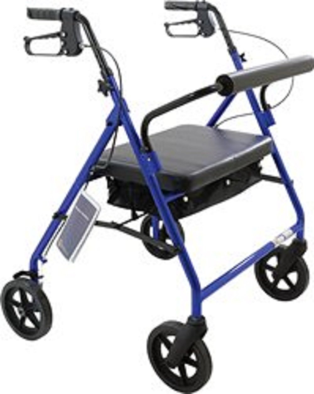 Roscoe Medical - Bariatric Rollator with Padded Seat (Blue) - CM
