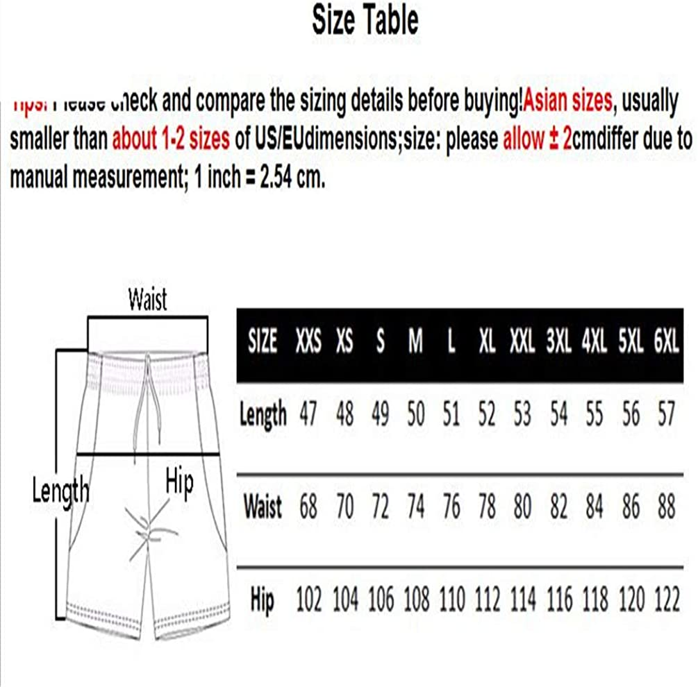 ESFBCSTS Man Hiphop High Boxers Trousers Summer Mens 3D Beach Board Shorts Outwears