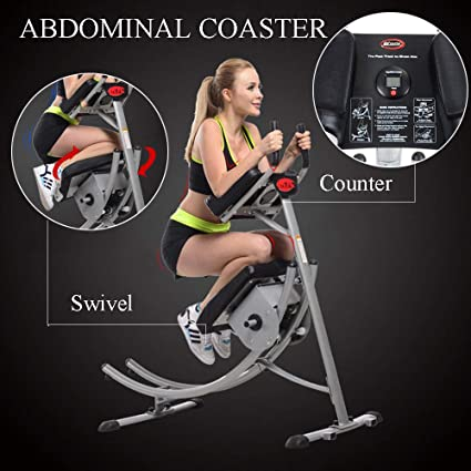 5217a1ad08 Abs Abdominal Exercise Machine Ab Crunch Coaster Body Shaper Max Core  Fitness (Type 1)