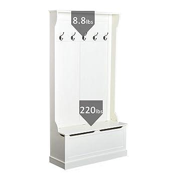 Amazon.com: FDInspiration - Perchero 3 en 1, color blanco ...