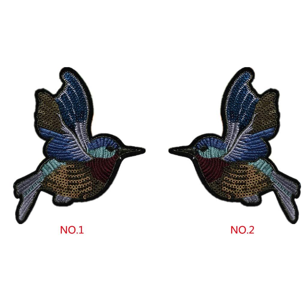 Kakiyi Links Rechts Cartoon-Muster Kleidung Aufn/äher Pailletten Applikation gl/änzendes Kost/üm Paste Dekorationen