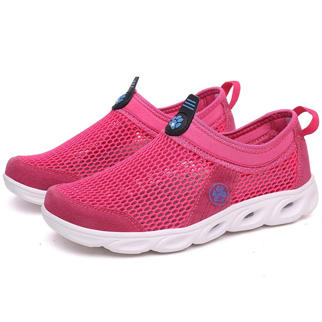 Bravetoshop Women's Water Shoes Quick Drying Sports Aqua Shoes Outdoor Mesh Shoes (Hot Pink,38) by Bravetoshop