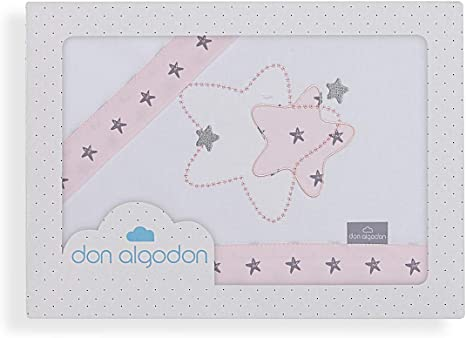 Don Algodón Sábanas Coche Izar Blanco Rosa: Amazon.es: Bebé