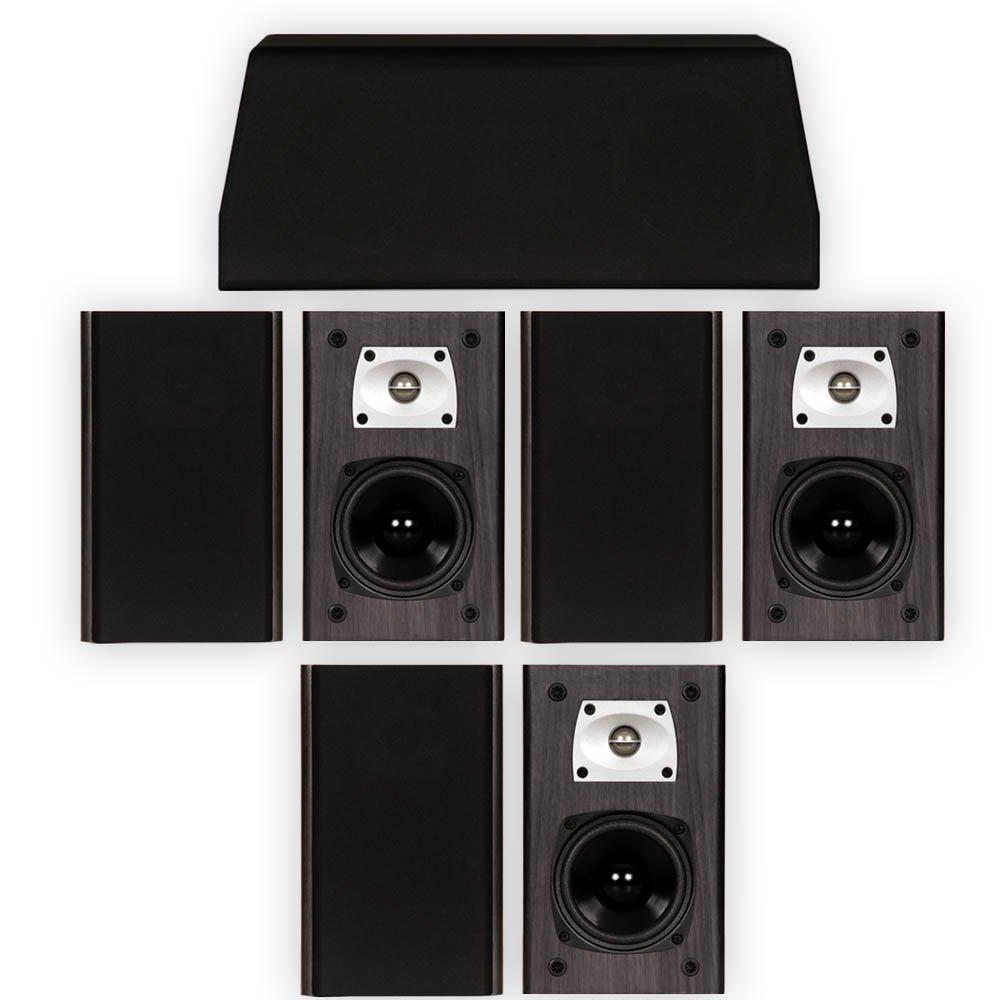 Theater Solutions B1 and C1 Bookshelf Surround Sound Home Theater 7 Speaker Set by Theater Solutions
