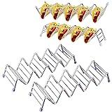 Soporte para taco de acero inoxidable, soporte para taco con capacidad para 2 o 3 moldes duros o blandos, bandeja para…