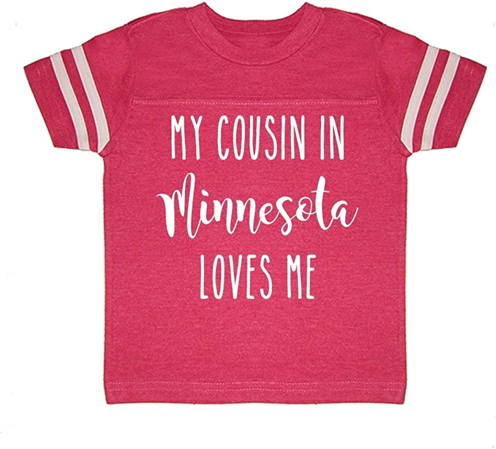 Toddler//Kids Sporty T-Shirt My Cousin in Minnesota Loves Me