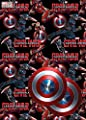 Avengers Civil War Wrapping Paper & Tags - 2 Gift Wrap Sheets & 2 Tags