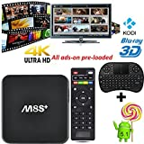 [Free keyboard + Mouse] J-DEAL® M8S+ M8S Plus Android 4.4 TV Box with Amlogic S812 Quad Core CPU 2G/8G Supports 2.4G/5G Dual Wifi 4K HD Output KODI 15.2 XBMC Pre-installed Streaming Media Player