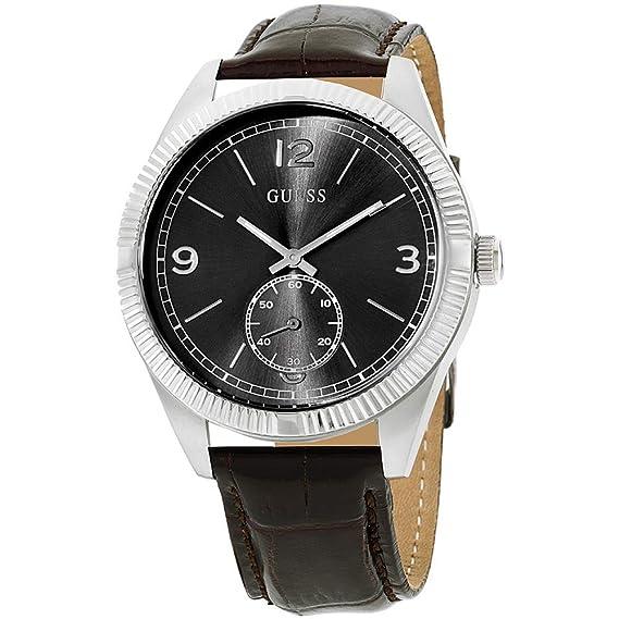 GUESS Reloj Analógico para Hombre de Cuarzo con Correa en Cuero W0873G1