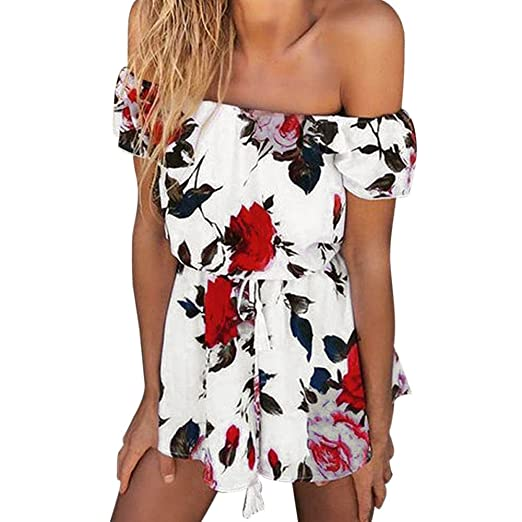 427fbc357e3 Amazon.com  Playsuit for Women with Sleeves