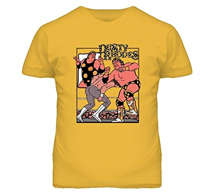 83c4fa15c5a Dusty Rhodes Retro Wrestling T Shirt S Gold