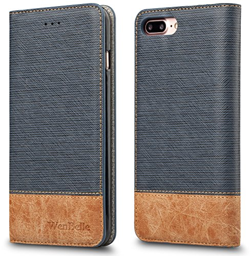 Cheap Wallet Cases For iPhone 7 Plus / iPhone 8 plus Case,WenBelle [Blazers Series]Stand Feature,Premium..