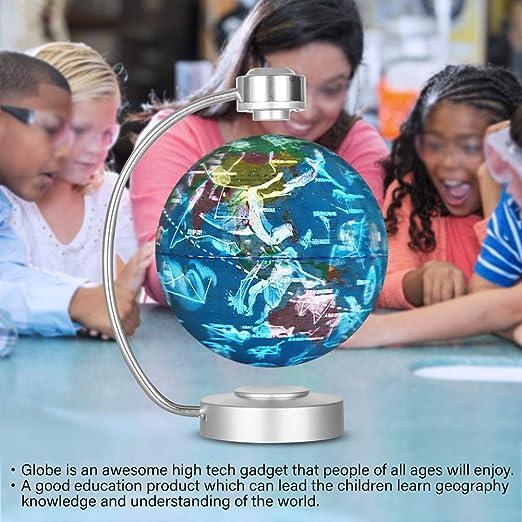 p/ädagogische Geographie Geschenk Semme Levitation Floating Globe Magnetschwebebahn Floating World Map Globus schwebende Globus mit Weltkarte und Constellation Home Office Dekoration