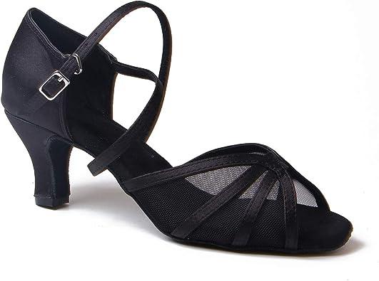 Syrads Womens Ballroom Latin Dance Shoes Female Salsa Tango Waltz ChaCha Social Dancing Shoes for Indoor Dance