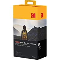 (50 Pack) - Kodak Photo Print Mini New Mc Cartridge - Cartridge Ink and Paper) - Pack of 50 - Suitable for Camera Mini Shot All-in-One Printer, Mini 4