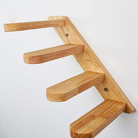 Escalera para gato, de madera maciza, con soporte de pared, escalera para gato, escalera, balcón: Amazon.es: Hogar