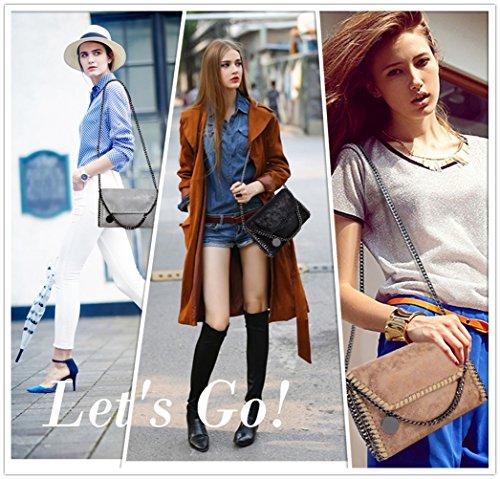 PU with for Clutch Leather Evening Chain Handbags Women Bags Strap KAMIERFA Bag Gold Body Designer Cross Metallic wBxq1PU