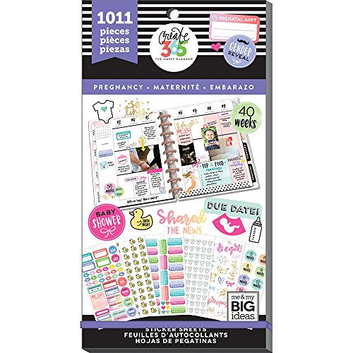 me & My Big Ideas PPSV-56-3048 The Happy Planner Value Pack Stickers-Pregnancy, Multicolor by Me & My Big Ideas