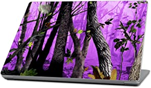 "Mightyskins Skin Compatible With Microsoft Surface Laptop (2017) 13.3"" - Purple Tree Camo 