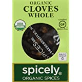 Spicely Organic Cloves Whole 0.15 Ounce ecoBox Certified Gluten Free