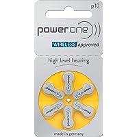 Original Powerone Battery 10, (60ea/pkg) p10 Zinc Air Hearing Aid Batteries (Yellow) Size 10