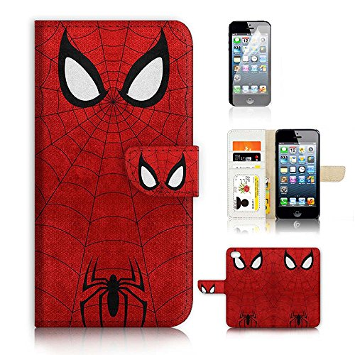 947a58cdb8 ( For iPhone 5 5S / iPhone SE ) Flip Wallet Case Cover and Screen Protector