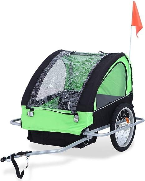 Kitechildhrrd - Remolque de Bicicleta para Perros con banderín de ...