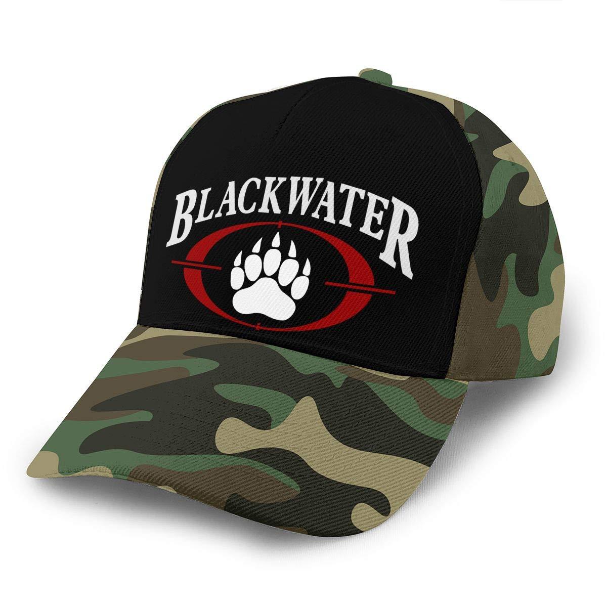 Adjustable Women Men Blackwater-Logo Print Baseball Cap Flat Brim Cap Hats Hip Hop Snapback Sun Hat Boys Girls Moss Green by Apolonia