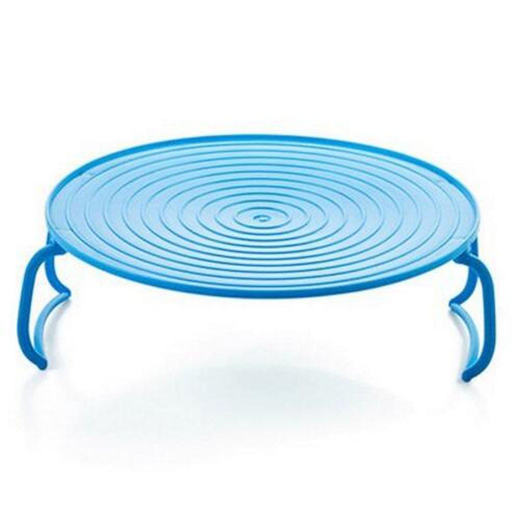 ZZM multifuncional microondas horno bandeja accesorio de doble capa aislamiento té rmico para vajilla para Pot Mat azul