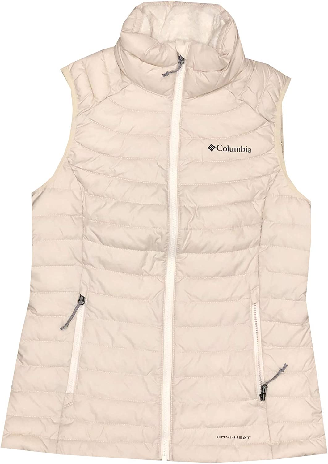 Columbia Womens White Out Puffer Omni Heat Full Zip Insulated Vest