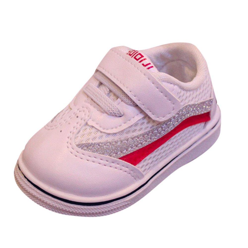 Quaan Kleinkind Kinder Sport Laufen Baby Schuhe Jungen Mädchen Mesh Weich Sohle Schuhe Turnschuhe Rutschfest gemütlich warm sicher Hausschuhe Schuhe Zu Rennen Festival Turnschuhe (15-19)