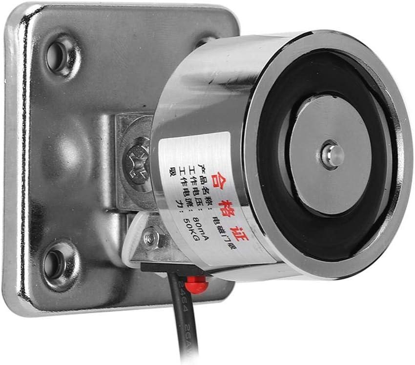 Redxiao Succión de Puerta, con botón de liberación Manual Soporte para Puerta cortafuegos, Oficina Puerta única para el hogar Puertas cortafuego Dobles Instalación en el Piso Instalación(DC24V)