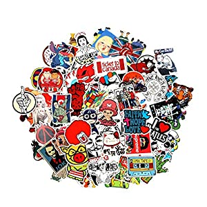 8 Series Stickers 100 pcs/pack Stickers Variety Vinyl Car Sticker Motorcycle Bicycle Luggage Decal Graffiti Patches Skateboard Stickers for Laptop Stickers For Kid And Adult (Series D)