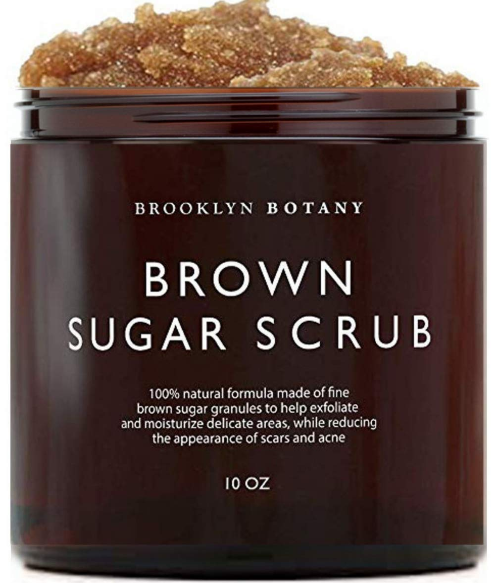Brooklyn Botany Brown Sugar Body Scrub - Great as Face Scrub & Exfoliating Body Scrub, Stretch Marks, Foot Scrub, Great Gifts For Women - 10 oz by Brooklyn Botany
