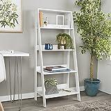 WE Furniture 55'' Wood Ladder Bookshelf - White