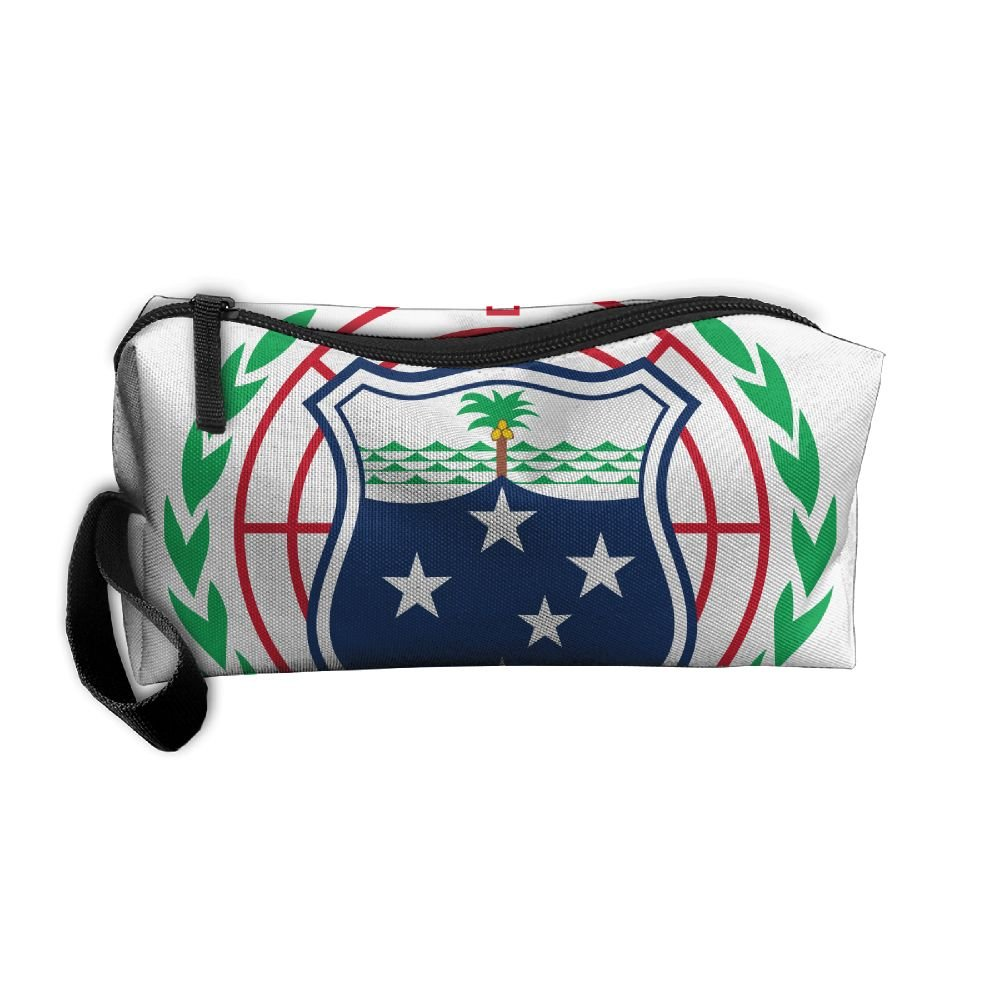 HSs4AD Coat Of Arms Of Samoa Cosmetic Bag Travel Toiletry Bag Portable Makeup Pouch Hanging Organizer Bag