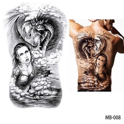 2 Tatuaje de Pecho Grande de Espalda Grande de Gran tamaño ...
