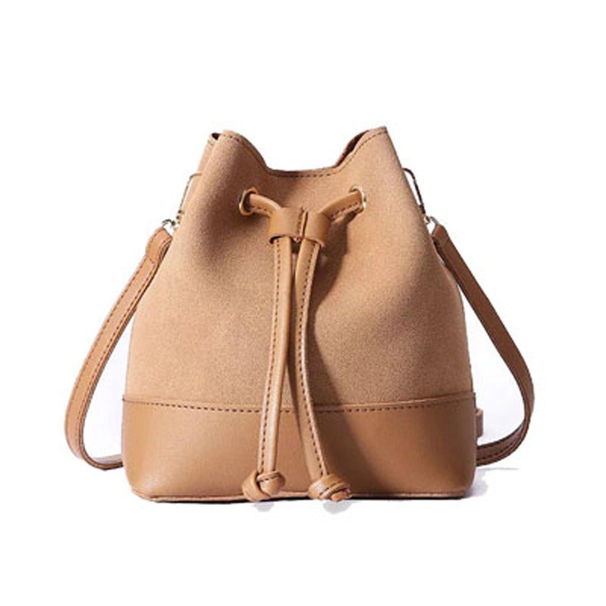 WFYJY-Tunnelzug Eimer Tasche Modisch und Einfach Lässig die Tasche vereiste einheitlichen Schulter Schrägen Tasche Flut.