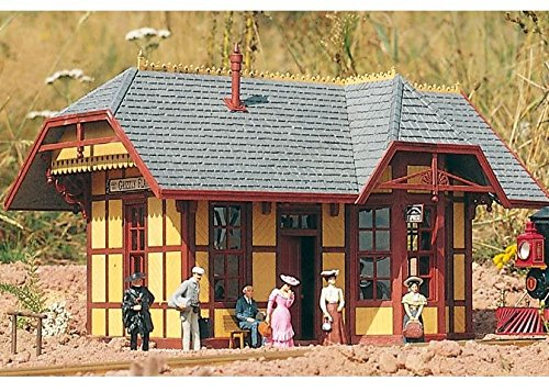 PIKO G SCALE MODEL TRAIN BUILDINGS - GRIZZLY FLATS STATION - - G Train Station Scale