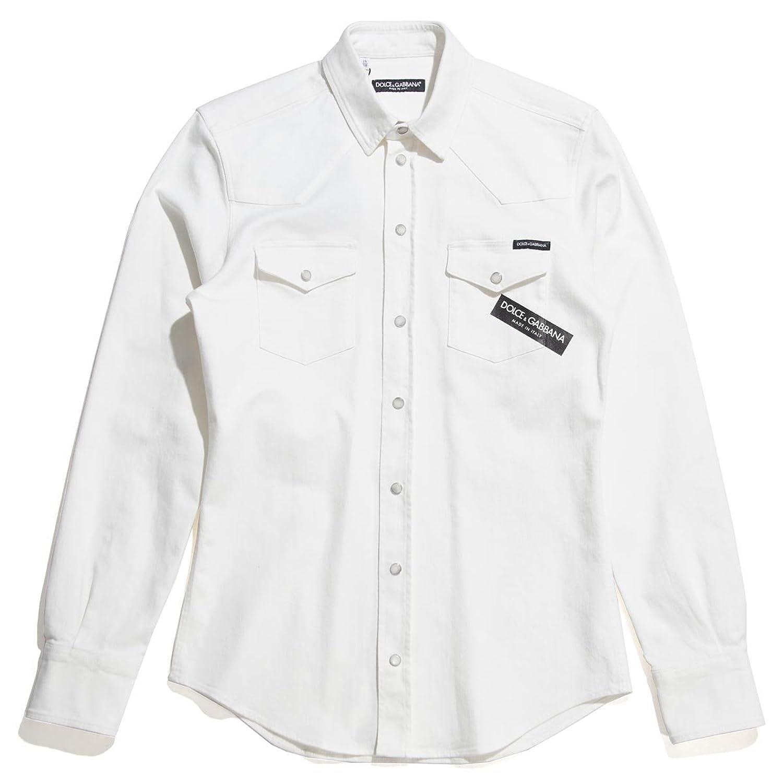 (ドルチェ&ガッバーナ) DOLCE&GABBANA カジュアルシャツ/ウエスタン シャツ [並行輸入品] B079FGKHTN  オフホワイト 39