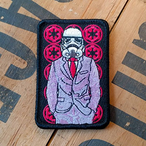 NEO Tactical Gear Star Wars Stormtrooper Suited Up Morale Patch - Available in Embroidered with Hook Backing or Iron On (Hook Backed)