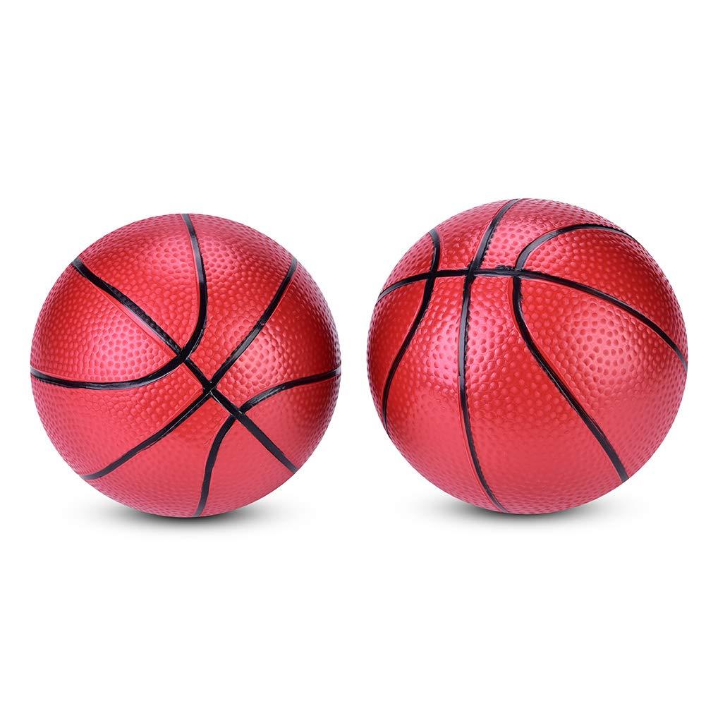 2Pcs Children Basketball,Mini Basketball Ball Outdoor//Indoor Sport Inflatable Toy Kids Basketball Balls Toy Gift