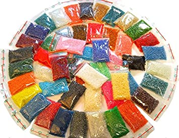 Gut gemocht Perlin - Rocailles Perlen Set 2mm 50 Farben GLASPERLEN 11/0 LZ91