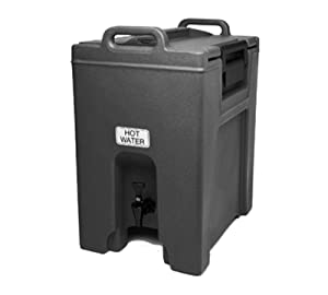 Cambro UC1000110 Ultra Camtainer 10-1/2 Gallon Beverage Carrier, Insulated Plastic, Black, NSF Case of 1